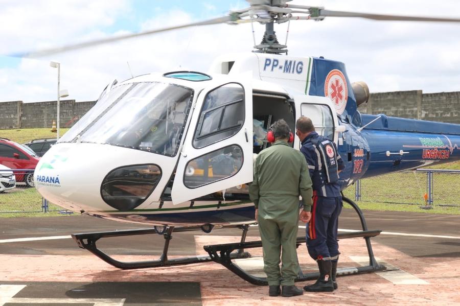 Socorro aéreo é acionado em grave crime na região - ARede